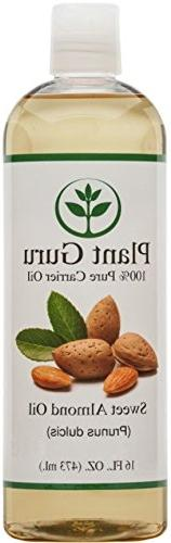 100% Natural Sweet Almond oil 16 oz. Cold Pressed for