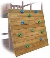 Kids Swing Set Rock Wall Climb Kit Slide Playground Wood Hardware