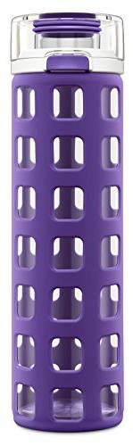 Ello Syndicate Glass Water Bottle with Flip Lid, 20 oz