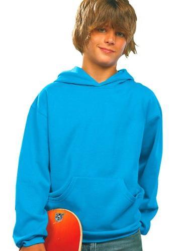 LAT Apparel Youth Pullover Fleece Hoodie - Medium - Royal