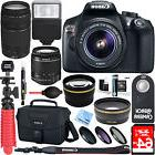 Canon T6 EOS Rebel DSLR Camera 18-55mm & 75-300mm 4 Lens