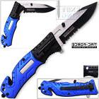 """7.75"""" TAC FORCE POLICE RESCUE FLASHLIGHT SPRING ASSISTED"""