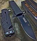 Tac Force Spring Assisted Open Black SAWBACK BOWIE Tactical