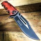 TAC FORCE Wood Spring Assisted Open SAWBACK BOWIE Tactical