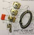 TAOT Wiring Kit - Jazz Bass® - CTS 250K Solid Shaft Pots, .047 Orange Drop Cap