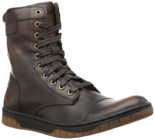 Diesel Men's Tatradium Basket Butch Zip Boot,Black/Rustic