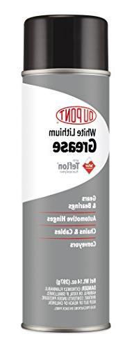 DuPont Teflon White Lithium Aerosol Grease, 14-Ounce