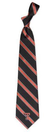 Texas Tech Red Raiders NCAA College Sports Striped Mens Neck