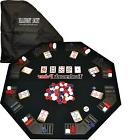 New TEXAS TRAVELLER - Table Top 300 Chip Travel Set Texas
