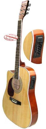 Harmonia Thinbody Acoustic Electric Guitar Natural W-0195CE-