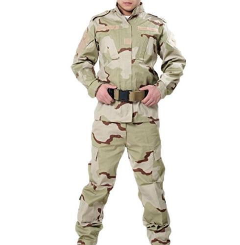 OSdream Outdoor Three Sand Camo Tactical Suit, Battle Strike