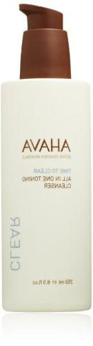 AHAVA Time to Clear All In One Toning Cleanser, 8.5 fl. oz