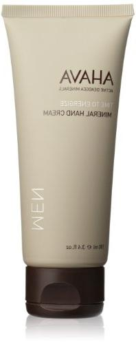 AHAVA Time to Energize Mineral Hand Cream for Men, 3.4 fl.