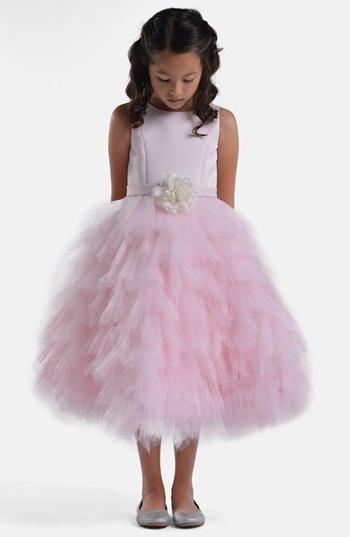 Toddler Girl's Us Angels Satin & Tulle Dress, Size 3T - Pink