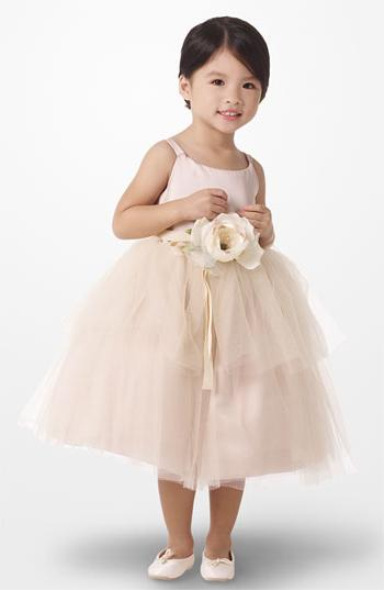 Girl's Us Angels Tulle Ballerina Dress, Size 4 - Beige