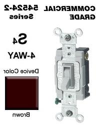 Leviton 54524-2 20 Amp 4-Way Toggle Switch Commercial -