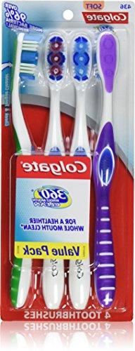 Colgate 360 Degree Toothbrush, 4 Count, Soft, Full Head