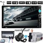 "7"" HD TouchScreen Double 2DIN Car Stereo Player FM Bluetooth"