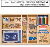 Melissa & Doug Kids Toys, Kids Animal Block Stamp Set