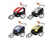 Confidence 2 in 1 Baby Bike Trailer w/ Suspension - Red