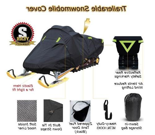 Trailerable Snowmobile Snow Machine Sled Cover Polaris 600