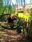 Tree Swing Set Playground Metal Swingset Outdoor Play Kids