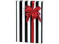 Trendy Brand New Black & White Stripes Wrap Wrapping Paper