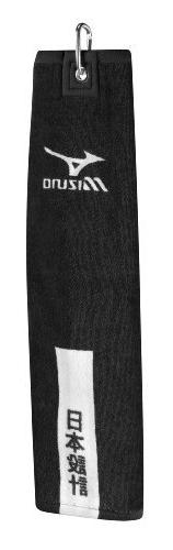 Premium Tri Fold Golf Towel-Black
