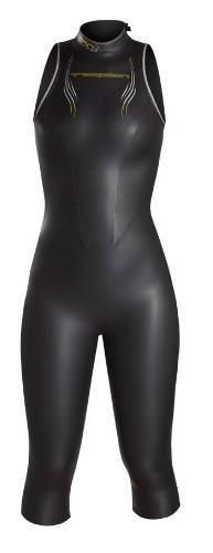 NeoSport Women's Jane 5/3mm Triathlon Wetsuit, Black/Yellow