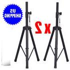 Tripod Speaker Stands Pair 110lb Load Pro Audio Stage