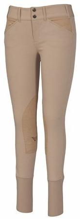 TuffRider Ladies Soft Shell Wide Waistband Knee Patch