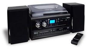 3-Speed Turntable with 2 CD player