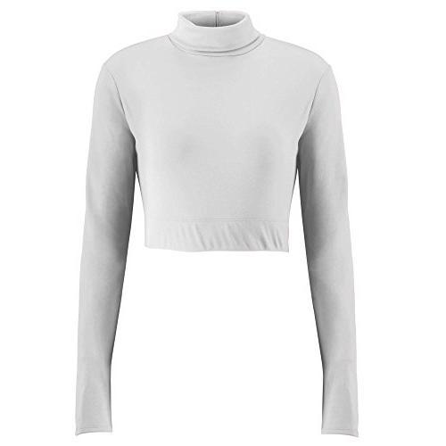 Turtleneck Midriff Size X-Small White