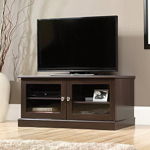 Sauder Select TV Stand in Cinnamon Cherry