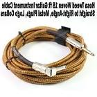 Hosa 18 ft Tweed Woven Guitar Instrument Cable Straight to