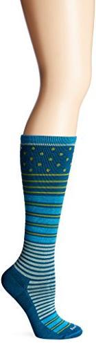 Sockwell Women's Twister Socks, Teal, Small/Medium