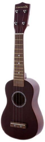 Harmonia UK002 Soprano Solid Ukulele, Mahogany