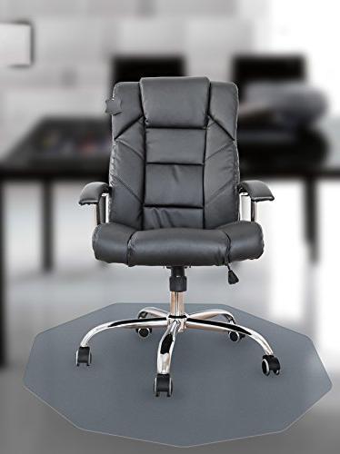 """Cleartex 9Mat Ultimat Chair Mat for Hard Floors, 38"""" x 39"""","""