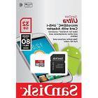 SanDisk Ultra Class 10 32GB microSD micro SDHC SD UHS-I U1