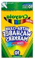 Crayola Ultra-Clean 10-ct. Classic Colors Washable Fine Line
