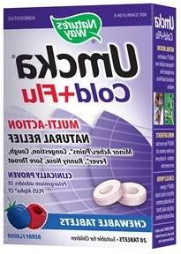 NATURE'S WAY UMCKA COLD&FLU CHEW,BERRY, 20 CT