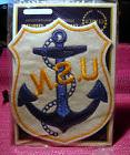 US Navy USN Embroidered Emblem Patch - Gemsco - New Blue