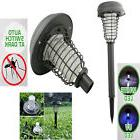 US Solar Powered LED Light Pest Bug Zapper Insect Mosquito