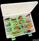USA 30 PCS Fishing Lures Crankbaits Hooks Minnow Baits With