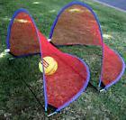 USA~ SET GOAL 4 foot KIDS PORTABLE SOCCER POP UP RED NET