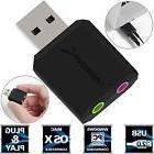Sabrent USB External Stereo Sound Adapter for Windows and Mac. Plug and play New
