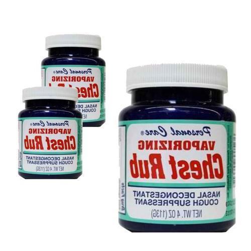 Assured Vaporizing Chest Rub, 4-oz. Jar