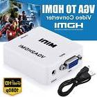 VGA to HDMI Full HD Video 1080P Converter Box Adapter for PC