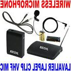VHF Stage Wireless Lavalier Lapel Microphone System Mic FM