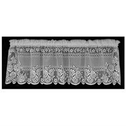Victorian Rose 60 Curtain Valance, White